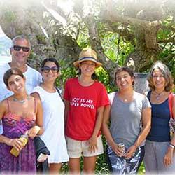 Antonorsi family enjoying Amami and Kakeroma